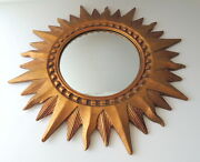 The Bombay Company Sunburst Mirror Gold Wall Convex Glass Local Pick Up Only
