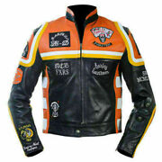 Men Cowhide Biker Leather Jacket/hdmm Mickey Rourkeand039s Cowhide Jacket 4xl And 5xl