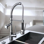 Kitchen Faucet Pull Out Sprayer Swivel Sink Mixer Taps Dual Handle Brass Alloy