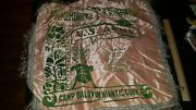Vintage Banner Pillow Sham Camp Baldwin United States Army Niantic Connecticu