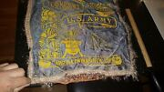 Vintage Banner Pillow Sham Us Army Camp Baldwin Service For My Country Niantic