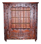 Antique Bookcase Country French 19th C. Biblioteque