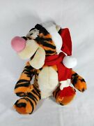 Vintage Disneyland Tigger Santa With Hat And Scarf Christmas Authentic With Tag