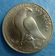 1984 P Olympiad Commemorative Silver Dollar Csdc84f Frosted Unc