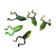 50pcs Topwater Rubber Frog Fishing Lures Realistic Frog Bait Hook 6cm 16g W/ Box
