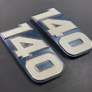 2x Johnson Evinrude Omc Outboard 140 Hp Motor Engine Alloy Applique Plate Part