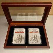 2011 P/w Silver September 11 Memorial 9/11 10th Anniv. Medals In Display Case