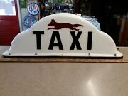 Classic Taxi Cab Roof Topper Automobile Light Sign Buffalo Ny Vintage Quick Fox