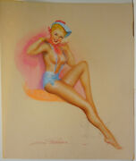Country Lass By Earl Macpherson Original Pastel