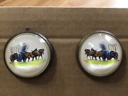 Horse Bridle Rosette/ Button — Horses With Covered Wagon