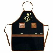 Buxton™ Grilling Cookware Manly Apron 1 Guy Labeled Easy Access Pockets New