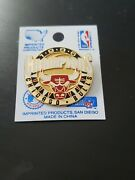 Chicago Bulls 1996 Champions Team Logo Imprinted Products Collectible Pin Rare