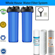 20 Big Blue Standard Whole House Water Filter System / Sediment Filters
