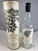 Game Of Thrones House Stark Empty Scotch Whisky Dalwhinnie Bottle Tube Bgh