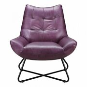 Moeand039s Graduate Leather Lounge Chair In Purple