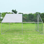 Outdoor Large Animal Kennel Chicken Coop Cage Enclosure For Dogs Pets 13and039 X 13and039