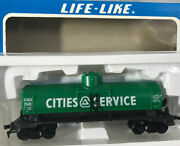 Life-like Ho Scale Cities Service Tank Car Green In Box
