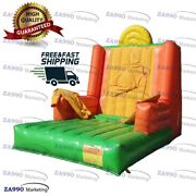 16x13ft Inflatable Stick Wall Jumping Game Carnival Playground With Air Blower