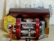 Rare 56/57and039s Vintage Record Ambassadeur 6000 Bait-casting Reel-used/cased/xclnt+