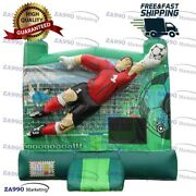 13x11.5ft Commercial Inflatable Goalkeeper Soccer Bounce House With Air Blower