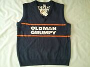 Nwt Ugly Christmas Sweater Bears Ditka Oldman Grumpy Sweater Vest In Size Xl