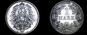 1875-a German Empire 1 Mark World Silver Coin - Germany