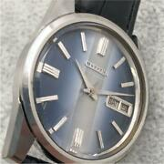 Citizen Stainless Steel Day Date Elite Special Automatic Mens Watch Auth Works