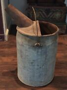 Vintage 5 Gal G.p.andf. Co. Old Galvanized Metal Fuel Gas Oil Milk Can W/ Spout