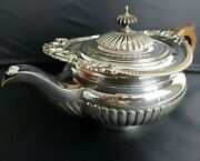 Beautiful Vintage Mappin And Webb Embossed Silver Plated Tea Pot - Melon Shape