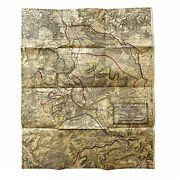 Wwi Original Officer Meuse-argonne Operation 3rd Army Daily Advance Map Relic