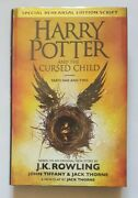 J.k.rowlingharry Potter And The Cursed Child Triple Signed/hologram. Tote Bag