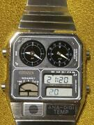 Citizen Used Ana-digi Temp Mens Watch Authentic Working