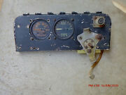 Vintage Aircraft Panel And Instruments, Oxygen Gauges And Switches, Neat