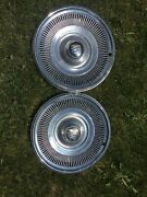 Vintage Set Of 2. Buick 15andrdquo Hubcaps Good Condition