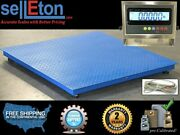 Industrial 60 X 60floor Scale With Stainless Steel Indicator /1000 Lbs X .2 Lb