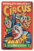 1 Playing Swap Card - Poster - World's Greatest Circus 77 Crazy Clowns [1634]