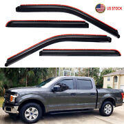 In-channel Smoke Window Vent Visors Rain Guards For 2015-2021 Ford F150 Crew Cab