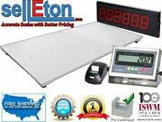 Floor Scale 60 X 84with Printer And Scoreboard Warehouse Industrial 1000lbs X .2