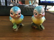 Vintage Bluebird Salt And Pepper Shakers 1950s Made In Japan Missing Stoppers