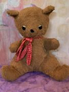 Vintage Old Pillow Pets Stuffed Animal Teddy Bear Wind Up Music Box Doll Toy 10