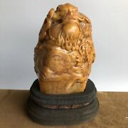 Chinese Shoushan Stone Dragon Loong Beast Ball Imperial Seal Stamp Signet Statue