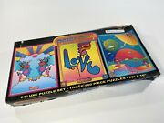 Vintage Peter Max Deluxe Jigsaw Puzzle Set Three 500 Piece Puzzles 20 X 16