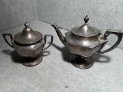 Derby S P Co. International Co. Silver Teapot And Sugar