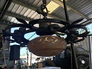 Lighting Antique Chandelier Forged Iron And Brass Indoor/outdoor