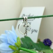 Original S925 Sterling Silver Best Friends Heart And Key Pendant Dangle Charms 🕊