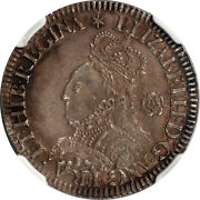 Great Britain 1562 Elizabeth I Milled Silver Sixpence Ngc Uncirculated Details
