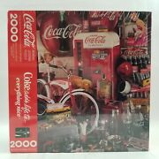 Coca Cola 2000 Piece Springbok Puzzle Coke Adds Life To Everything New Sealed