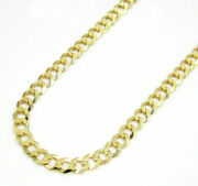 Mens Womens 10k Yellow Gold Cuban Curb Link Chain Necklace 20 - 30