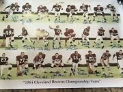 Cleveland Browns 1964 Championship Team 24 Players Signed Autograph Jim Brown