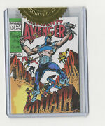 Marvel The Avengers Silver Age Cover Recreation Sketch Card Warren Martineck 63